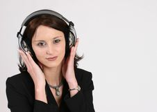 Free Businesswoman Listening To Her Favorite Music Royalty Free Stock Images - 293139