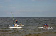 Windsurfing Lesson 2 Stock Photos
