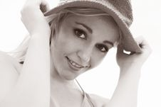 Free Pretty Hat Model Royalty Free Stock Photos - 294898