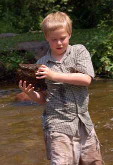Free Building A Dam In Minnehaha Creek Stock Image - 295061