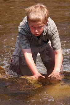 Free Cooling Off In A Creek On A Hot Summer Day Stock Photography - 295062
