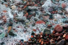 Colored Stones On Ocean Shore 1 Royalty Free Stock Photos
