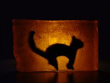 Free Cat - Stained Glass Stock Images - 299054