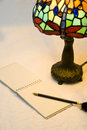 Free Closeup Of Lamp And Notepad Royalty Free Stock Image - 2908366
