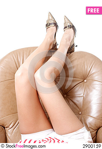 Free Woman S Beautiful Long Legs Royalty Free Stock Images - 2900159