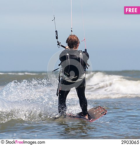 Free Kite Boarder In Action Royalty Free Stock Photo - 2903065