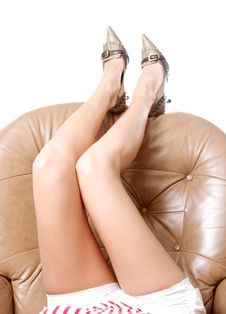 Woman S Beautiful Long Legs
