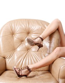 Woman S Beautiful Long Legs Royalty Free Stock Photos