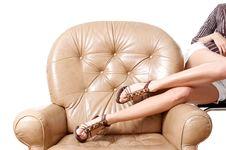 Woman S Beautiful Long Legs Royalty Free Stock Photo