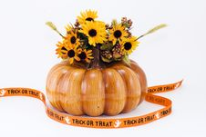 Free Halloween Pumpkin With Banner Royalty Free Stock Image - 2900326