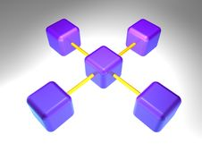 Free 3D Network Node Royalty Free Stock Photography - 2900437