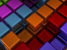 Closeup Texture Of Cubes Royalty Free Stock Photos