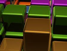 Closeup Texture Of Cubes Stock Photos