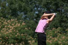 Free Lady Golf Swing Stock Photography - 2901562
