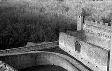 Free Medieval Castle Black White Royalty Free Stock Photography - 2901797