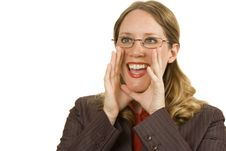 Free Businesswoman Shouting Royalty Free Stock Photos - 2902658