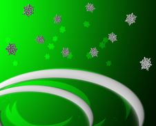 Free Green Snow Flakes And Drifts G Royalty Free Stock Photography - 2902887