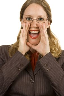 Free Businesswoman Shouting Royalty Free Stock Photography - 2902927