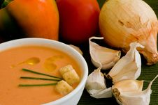 Free Tomato Cold Soup Royalty Free Stock Image - 2902956