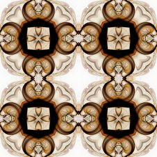 Brown Medallion Wallpaper Royalty Free Stock Photography