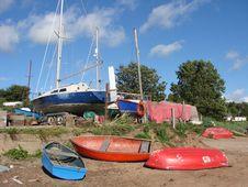 Free Boat Yard Royalty Free Stock Photo - 2904375