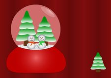 Free Happy Snowmen In Glass Royalty Free Stock Photo - 2904835