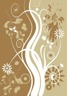 Free Autumn Abstract Vector Floral Stock Images - 2905204