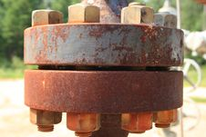 Rusty Industrial Fittings Royalty Free Stock Photography