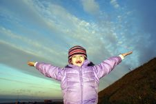 Free Girl And Sky Royalty Free Stock Photo - 2906225