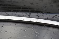 Water Drops On Car Royalty Free Stock Image