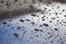 Water Drops On Car Royalty Free Stock Images