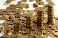 Free Coin Stacks On A Background Royalty Free Stock Images - 2906999