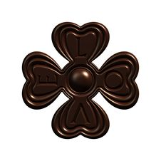 Chocolate Love Clover Candy Isolated Royalty Free Stock Image