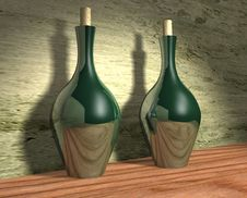 Two Bottles Of Wine Stock Photography