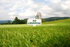 Free Golf - No Chipping Royalty Free Stock Photos - 2909728