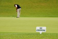 Free Golf Player - No Chipping Stock Image - 2909871