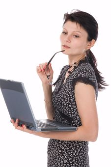 Free The Woman With Notebook Stock Photo - 2909930