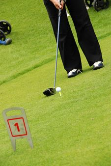 Free Golf Player Royalty Free Stock Photos - 2909988