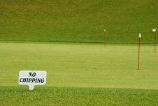 Free Golf - No Chipping Royalty Free Stock Image - 2909996