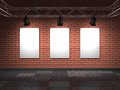 Free Blank Frames On Bricks Wall. Royalty Free Stock Images - 29002869