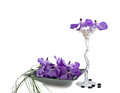 Free Orchid Vanda Flowers With Wineglass Stock Image - 29005401