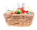 Free Toy Rabbit For A Basket With Easter Eggs Royalty Free Stock Image - 29008796