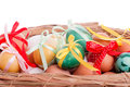 Free Easter Eggs In A Straw Basket Royalty Free Stock Photography - 29008817