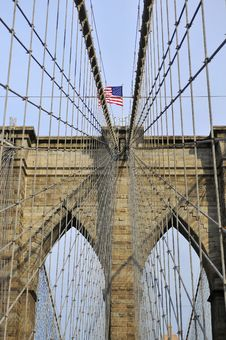Free Upward Image Of Brooklyn Bridge In New York Royalty Free Stock Images - 29000159