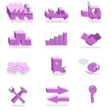 Free Finance And Industry Violet Icons Royalty Free Stock Photos - 29001858