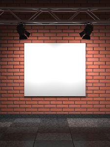 Free Empty Frame On Bricks Wall. Stock Photos - 29002943