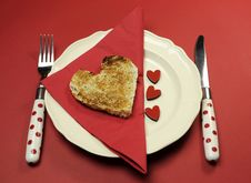 Free Love Theme Valentine Breakfast Table Setting Royalty Free Stock Photo - 29003555