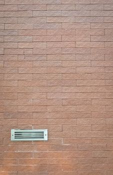 Ventilator On Brick Wall