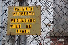 Free Private Property Sign Royalty Free Stock Photography - 29005417