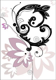 Decorative Butterfly On Flower Stock Images